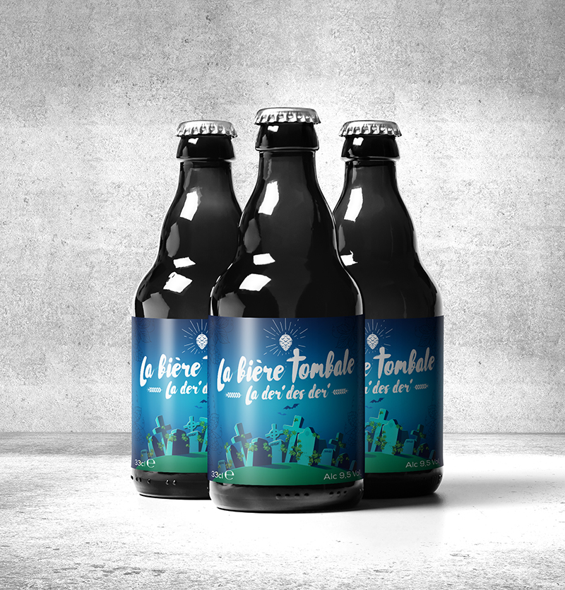 Three bottles of Bière Tombale