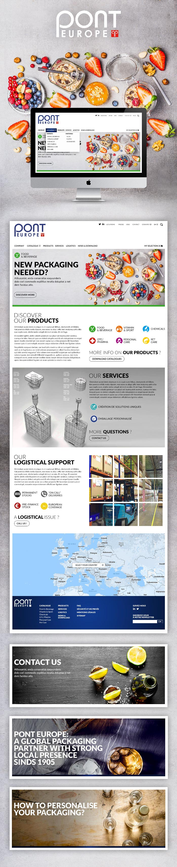 Pont packaging Website